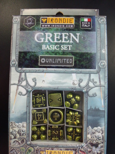 IronDie green metal dice