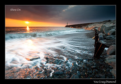 Shine On You Crazy Diamond (izzy's-photos) Tags: ocean light sunset sea beach drag waves glow diamond aberystwyth tanybwlch colorphotoaward shineonyoucrazy mygearandme mygearandmepremium mygearandmebronze mygearandmesilver mygearandmegold