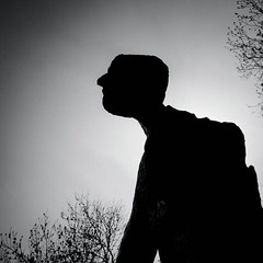 Silhouette (Tomas Pivovarnik) Tags: street bw art monochrome silhouette statue architecture republic czech prague praha republika esk