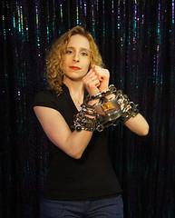 Dayle Krall Handcuffed (SherryandKrallMagic) Tags: extreme handcuffs escapes restraints harryhoudini darbycuffs daylekrall femaleescapeartist sherryandkrallmagic irish8s russianmanacles mirrorcuffs
