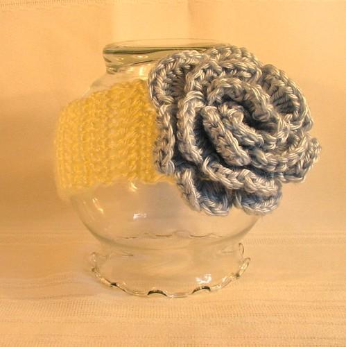 Cute Crochet Adjustable Baby Headband with Flower