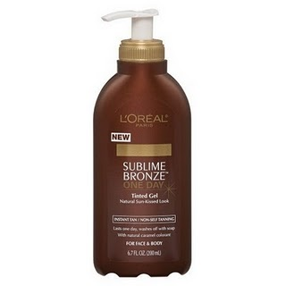 loreal sublime bronze one day tinted gel