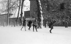 # (Nordic Aperture) Tags: girls bw snow film 35mm nikon windy f100 11 epson f2 nikkor trondheim ilford fp4 nidarosdomen xtol v500