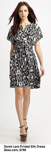 Saks.com - Derek Lam - Printed Silk Gathered Dress
