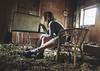 (yyellowbird) Tags: house selfportrait abandoned beer girl movie projector screen hi cari