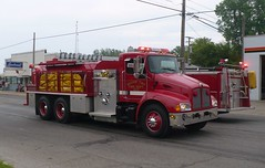 Moore Twp 6-02 (railnut19) Tags: water mi truck michigan parade moore rig tender tanker township association kenworth sandusky firemans snover