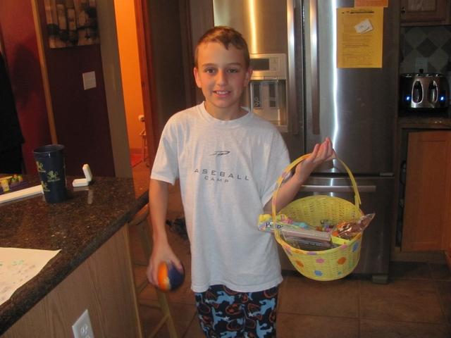 Blake found his basket last!
