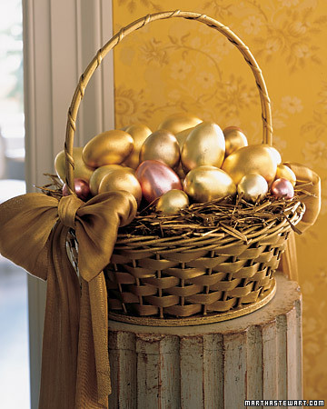 Golden Eggs Beautiful Easter Basket Martha Stewart