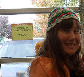 crocheted hat by linda