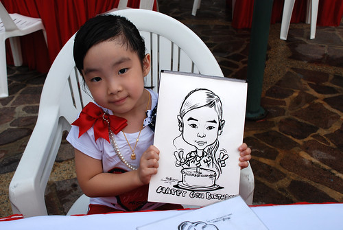 caricature live sketching for birthday party 16042011 - 1