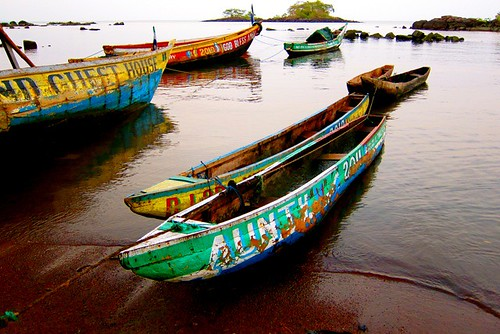 boats of banana island