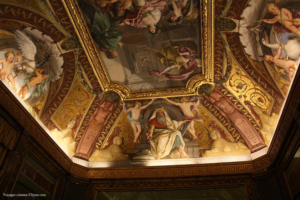 Plafond de la Salle des Papyrus, par Raphaël Mengs