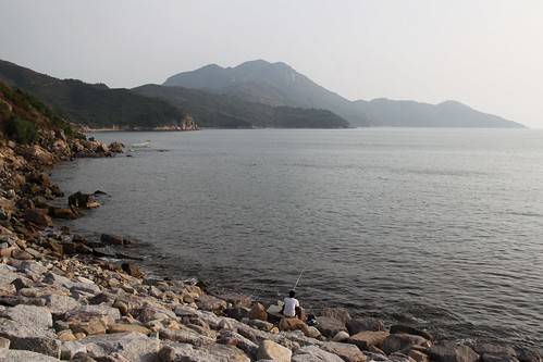 Fishing near Hung Shing Yeh beach