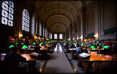 Bates Hall at the Boston Public Library (Jeff_B.) Tags: classic boston architecture library massachusetts grand mass bostonpubliclibrary copley readingroom copleysquare bpl bateshall