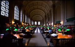 Bates Hall at the Boston Public Library (Jeff_B.) Tags: classic boston architecture library massachusetts grand mass bostonpubliclibrary copley readingroom copleysquare bpl bateshall