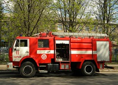 Pump firetruck on KAMAZ chassis (Victor_N_Dashkiyeff) Tags: truck automobile ukraine pump firetruck kharkov feuer ussr kharkiv автомобиль украина харьков ссср feuerspritze пожарный feuerlosch