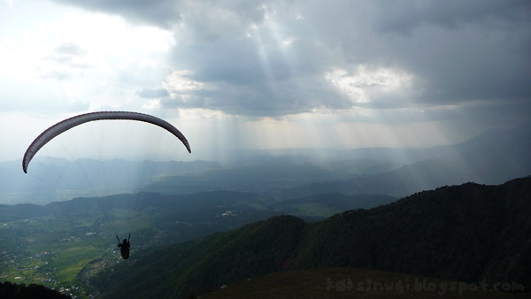 Paragliding Through Heavenly Scenery at Billing