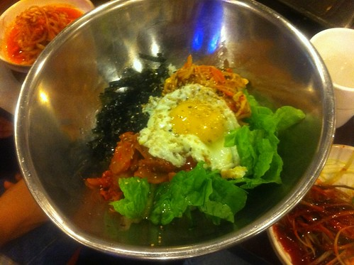 Bibimbap with Korean BBQ = Unholy combination