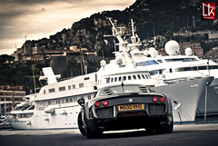 Rain expected (Paganikon) Tags: car port boat nikon yacht top automotive monaco d200 marques 70200 supercar noble 2011 m600