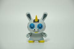 Zebracorn (ENC7) Tags: blue amanda yellow toy gray vinyl kidrobot plastic zebra unicorn fatale dunny visell zebracorn