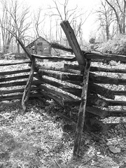 Split-rail fence - New Salem Historic Site