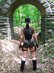 Lara Croft Tomb Raider (VictoriaCosplay) Tags: girl jones boots cosplay indiana angelinajolie laracroft guns shorts tombraider gernades victoriacosplay wwwcosplaygirlwebscom