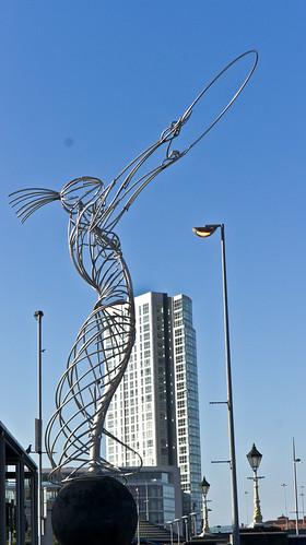 Belfast - Beacon of Hope is a £300,000 public art metal sculpture by Andy Scott