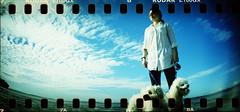 (chumq) Tags: film beach water lomo xpro lomography kodak slide slidefilm holes sprockets kodake100gx sprocketrocket