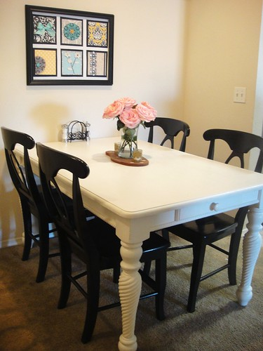 Dining table and chairs revamp