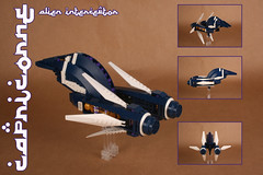 """CAPRICORNE"" Interceptor (Shamisenfred) Tags: lego alien andromeda interceptor starfighter capricorne"