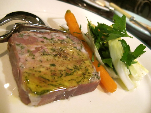 Terrine de maison with pickled Dutch carrots