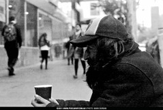 homless_guy_CAFFENOL (pixelwhip) Tags: bw copyright film coffee canon photography photo photographer mark c grain experiment australia melbourne lucky 100 brew development develop caffenol burban pixelwhip