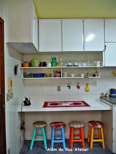 Cozinha com Teto Amarelo !!! Finalmente !!!