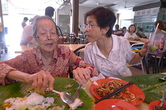 Auntie Chee and Siew Lian at Lunch