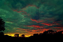 Radio Waves (Doug Wallick) Tags: sunset sky minnesota silhouette radio dark colorful waves newhope antenna picnik lightroom frequency a230 explored mygearandme mygearandmepremium mygearandmebronze artistoftheyearlevel3