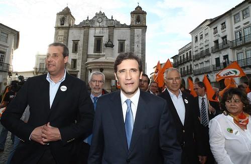 Pedro Passos Coelho Arruada em Évora