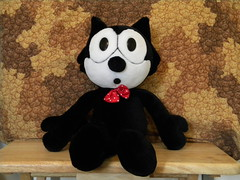 1996 A&A Plush Felix the Cat (Oo-De-Lally) Tags: cat toy felix plush stuffedanimal plushie felixthecat characterdoll