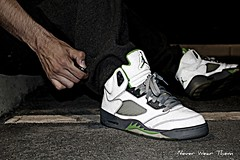 WDYWT 5-21-11 (Never Wear Them) Tags: 3 green silver grey 5 air bean nike m jordan v 3m