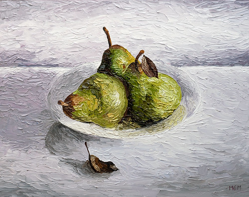 Three Pear Still Life by Michael Mitchener