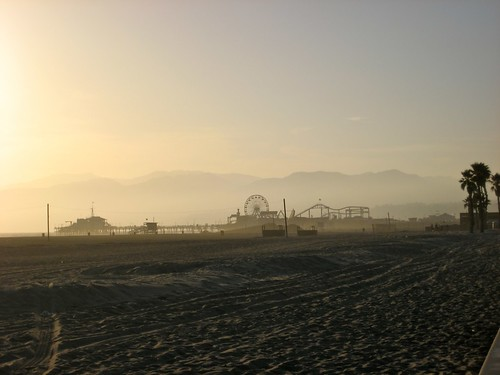 Pacific Park, sunset, Santa Monica