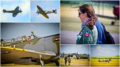 Anna Walker & Carolyn Grace (Lilla~Rose) Tags: collage mosaic aviation montage spitfire iwm seafire womeninaviation aviationphotography imperialwarmuseumduxford annawalker carolyngrace femalepilots duxfordspringairshow2011 supermarinespitfireixt supermarineseafire17 aritisticaviation
