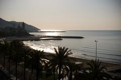 Sitges Morning (ccsharry) Tags: morning sea beach lumix spain panasonic sitges 2011 lx5 ccsharry
