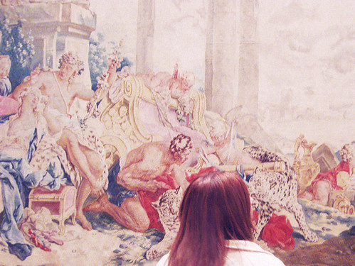 Admiring a Boucher tapestry by hallovalerie