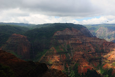 Waipoo Falls in the Waimea Canyon (John Petrick) Tags: hawaii kauai waimea waimeacanyon d90 hawaiivacation kauaihawaii waipoofalls kokeestatepark kauaivacation grandcanyonofthepacific nikon2470mm waimeacanyondrive waimeacanyonroad waipoofallswaimeacanyon