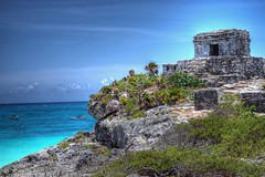 Mayans of the Caribbean (StGrundy) Tags: ocean travel cruise sea vacation history archaeology water architecture clouds port mexico mesoamerica mar ancient nikon ruins mare maya spirit yucatan tulum cliffs palm coastal mayan historical caribbean cozumel hdr highdynamicrange precolumbian archeological caribe quintanaroo ncl blueribbonwinner norwegiancruiselines 3xp photomatix d80 mesoamrica abigfave platinumheartaward absolutelystunningscapes stgrundy artistoftheyearlevel3