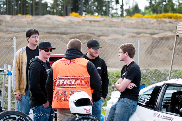 Jason Oefelein, Justin Pawlak, and Andrew Coomes discussing things at PGP.JPG