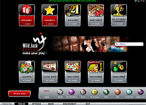WildJack Casino Lobby