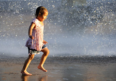 Evening in the park (Deby Dixon) Tags: park girls playing fountain smiling youth laughing fun photography evening nikon spokane downtown dancing joy running africanamerican wa waterfountain deby allrightsreserved riverfrontpark exuberance 2011 debydixon debydixonphotography