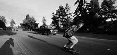 Richmond Beach Road (Conrad Spencer Lilleness) Tags: road seattle sunset beach speed kyle washington long pavement board hill shoreline fast richmond hills skate longboard skateboard stud bombing mcqueen