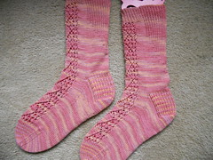 Bleeding Hearts Socks Finished